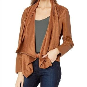 BLANK NYC Drape Front Faux Suede Jacket NWT S